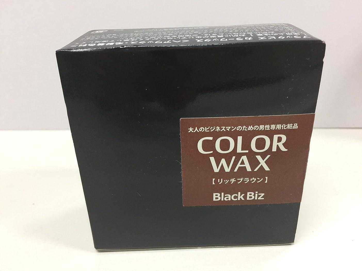 新鮮なトリッキーカロリー大人のビジネスマンのための男性専用化粧品 BlackBiz COLOR WAX ブラックビズ カラーワックス 【リッチブラウン】