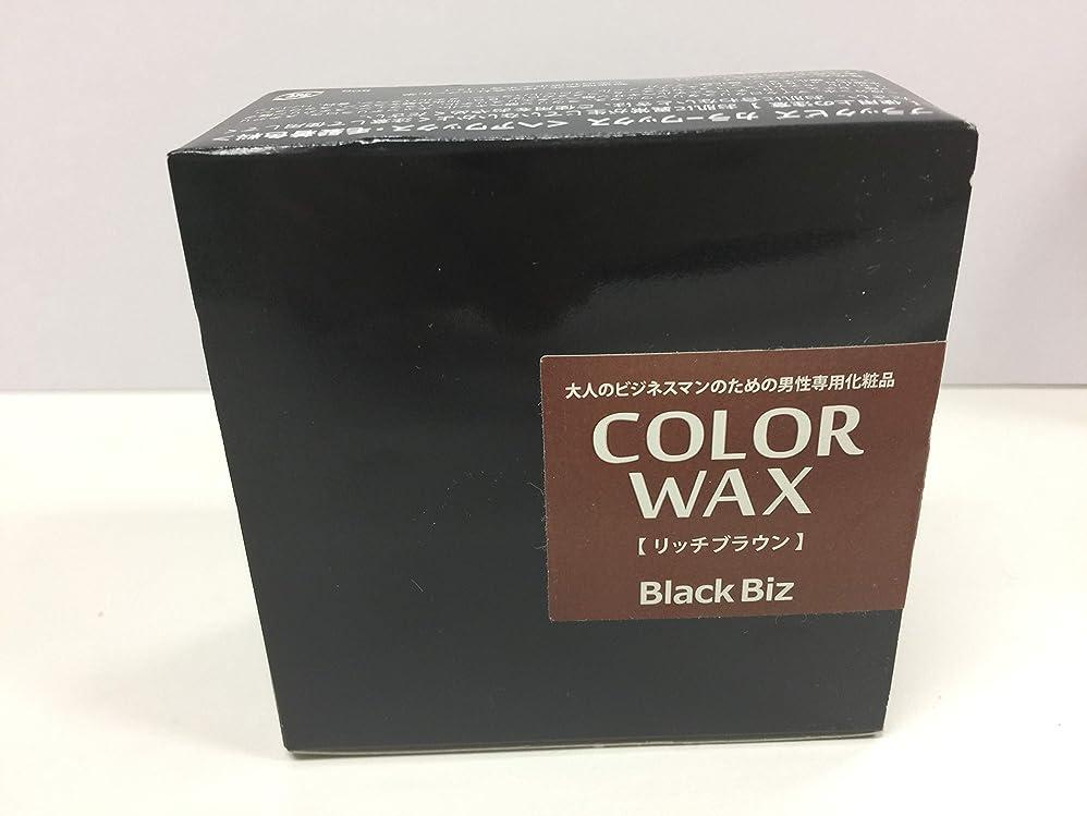 勝利したディスコ早める大人のビジネスマンのための男性専用化粧品 BlackBiz COLOR WAX ブラックビズ カラーワックス 【リッチブラウン】