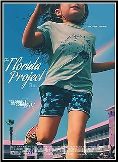 DuanWu フロリダプロジェクト映画のポスターガールとレインボーポスタープリントキャンバス壁アート絵画リビングルームの家の装飾 -50x70 センチメートルなしフレーム 1 個