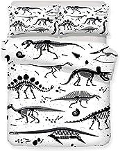 Housse de Couette imprimé 3D Housse de Couette Dinosaure Taille (220x240cm), Ensemble 3 pièces, 1 Housse de Couette + 2 ta...