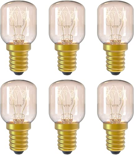 DGE 6Pack E14 15W Ampoule Incandescence 2300K Ampoule Four Dimmable Culot E14 Résistant Jusqu'à 300° C Lumiere pour A...