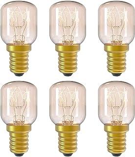 DGE 6Pack E14 15W Ampoule Incandescence 2300K Ampoule Four Dimmable Culot E14 Résistant Jusqu'à 300° C Lumiere pour Au Fou...