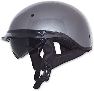 ZOX Roadster DDV Adult Street Motorcycle Helmet - Titanium/X-Large