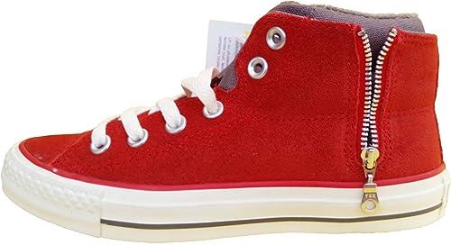 Converse  CT PC Side Zip Mid bottes, Montante mixte adulte - Rouge - rouge, 3.5 UK