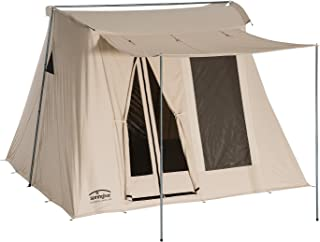 Springbar Classic Jack 100 | 10x10 Foot Canvas Tent | Watertight Cotton Canvas Car Camping and Glamping All Season Tent | 6.5 Foot Interior Standing Height | Original 1961 Easy Set Up Design