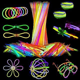 Attikee 448 PCS Glow Sticks Bulk, Glow Party Supplies, 8 Inch 7 Colors 200PCS Glow Sticks & 248PCS Connectors for Eyeglass...