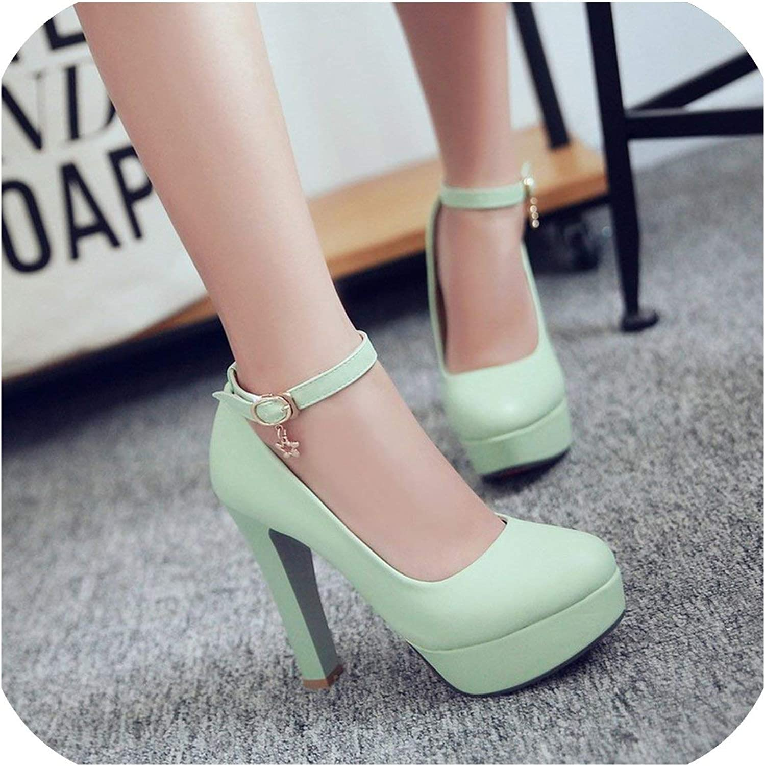 White Single shoes High Heels Nightclubs Thin Platform Mouth A Word shoes Big Size 32 42 43