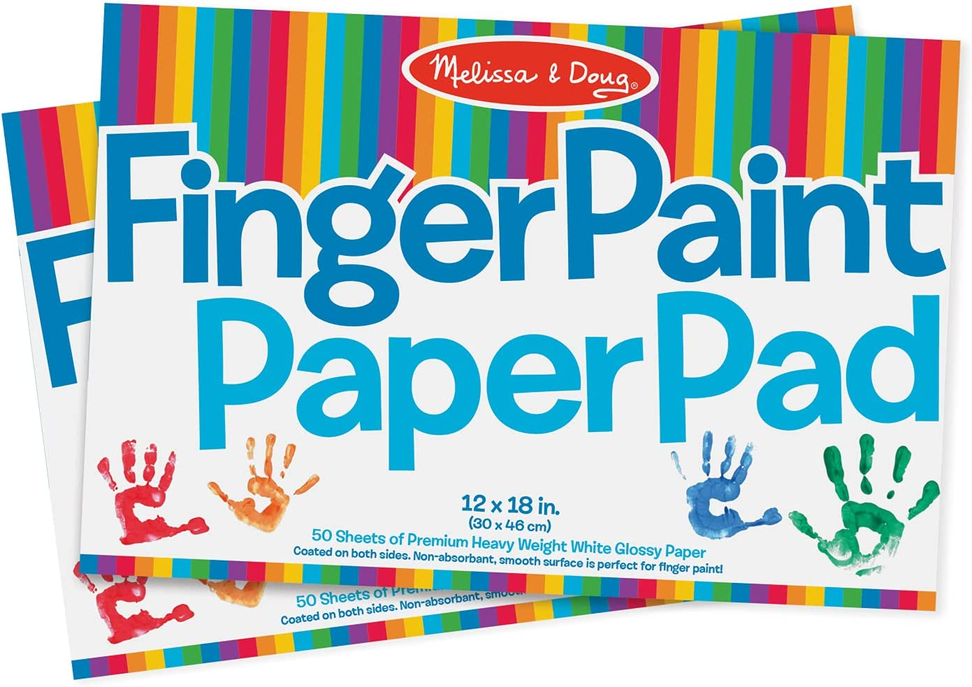 Soldering Melissa Doug Finger Paint Paper Pad 12 Shee 18 Directly managed store - inches x 50