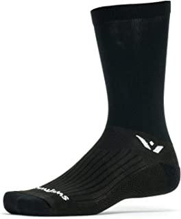 Swiftwick- PERFORMANCE SEVEN | Socks for Cycling | Fast Drying, Lightweight Tall Crew Socks