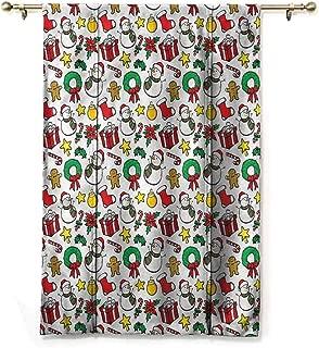 Andrea Sam Roman Curtain Christmas,Wreath Candy Cane Snowman,48