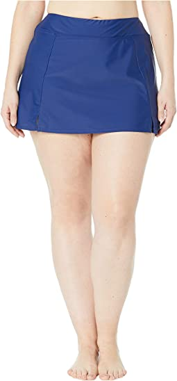 Plus Size Solids Separate Waist Band Skort Bottoms