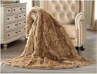 Hotel Premier Luxury Faux Fur Throw, Camel