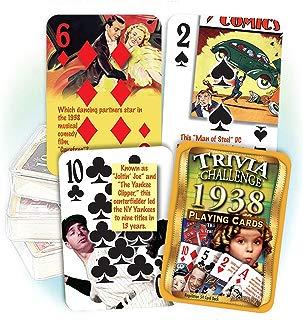Flickback Media, Inc. 1938 Trivia Playing Cards: 81st Birthday