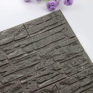 NHsunray PE de espuma de 3D Ladrillo Pegatina Pared,DIY Autoadhesivo Decoración de pared Moderno Decoración para Cuarto de Baño,TV fondo,Sala de Estar y Cocina (12, Gris)