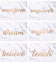 Decorative File Folders - 12-Count Colored File Folders Letter Size, 1/3-Cut Tabs, Cute Marble Designs with Inspirational Rose Gold Foil Words, File Filing Organizers, 9.5 x 11.5 Inches