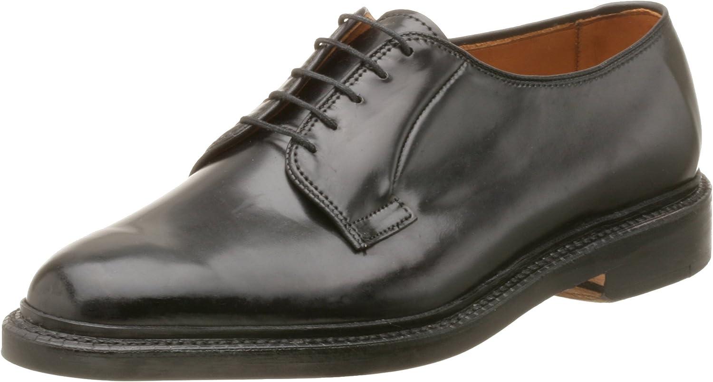 Allen Edmonds Men's Leeds Genuine Shell Cordovan Plain Toe Oxford,Black,9.5 EEE US