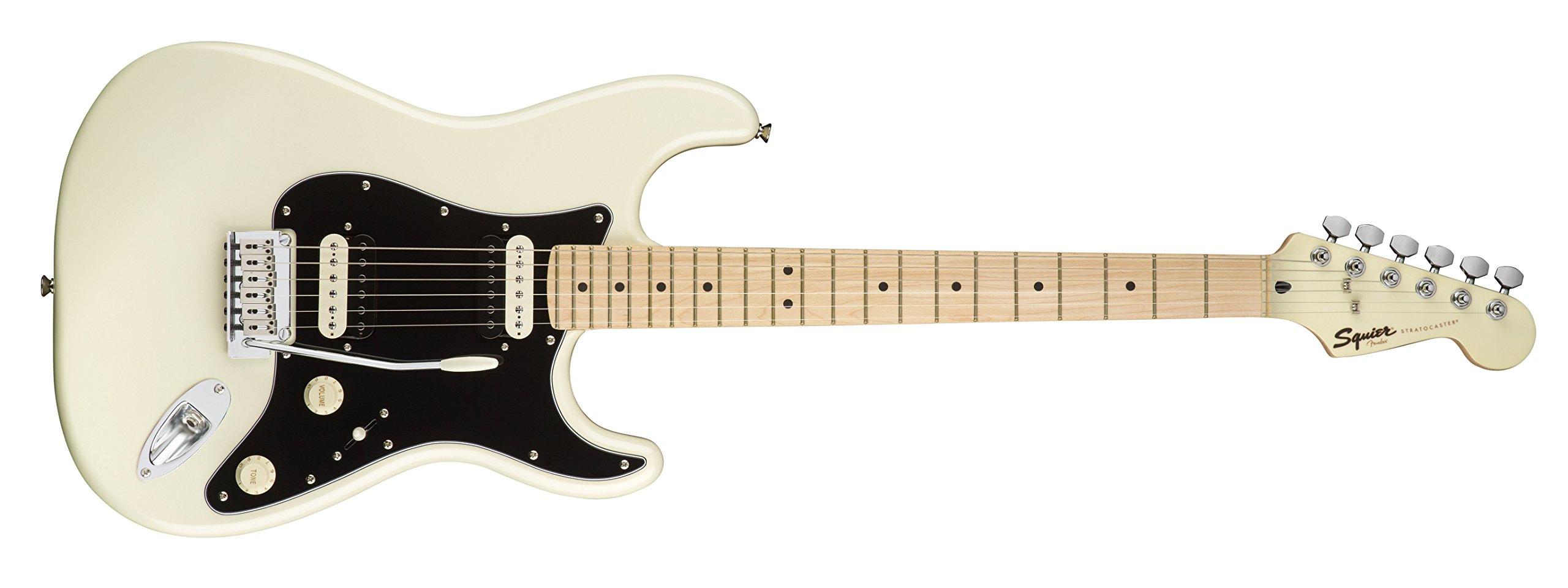 Squier por Fender Stratocaster Guitarra eléctrica – contemporáneo hh – arce diapasón – Pearl Color Blanco: Amazon.es: Instrumentos musicales
