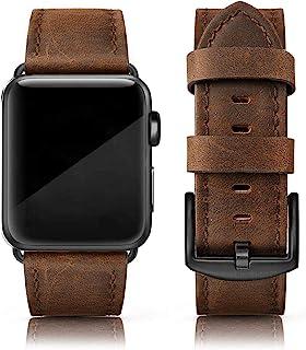 بندهای چرمی EDIMENS سازگار با بانوان اپل واچ 42 میلی متری 44 میلی متری بانوان ، بند جایگزین مچ بند چرمی اصل برای iWatch Apple Watch Series 6 5 4 3 2 1، SE Sports