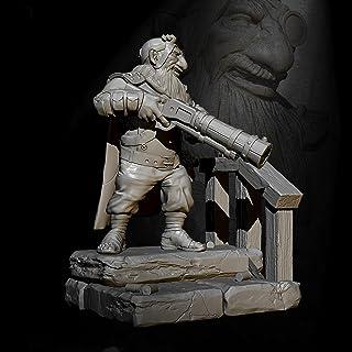 Risjc H60 mm sci-fi-tema forntida dvärgkrigare harts modellkit omonterad och omålad soldatkomponent — 93RJ18