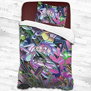 Vanes Rick&Morty Super Soft Luxury 3 Piece Twin Size in Classic Design Bedding Set - Duvet Cover& Pillow Cases 53
