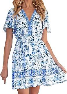 Amzbarley Women's Sleeveless Bodycon Casual Ruched Waist Mini Dresses Side Drawstring Tank Dress Size