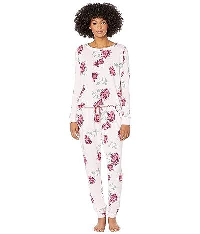 Kate Spade New York Brushed Sweater Knit Pajama Set (Blooming Mums) Women