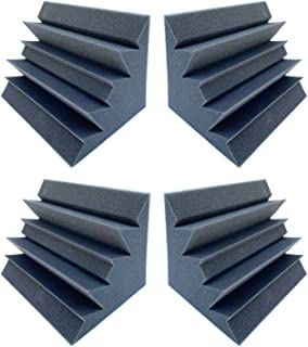 4 Pack Set Acoustic Sound Foam Kit, Acoustic Speaker Absorption Foam Pas Bass Trap Studio Corner Wall 12