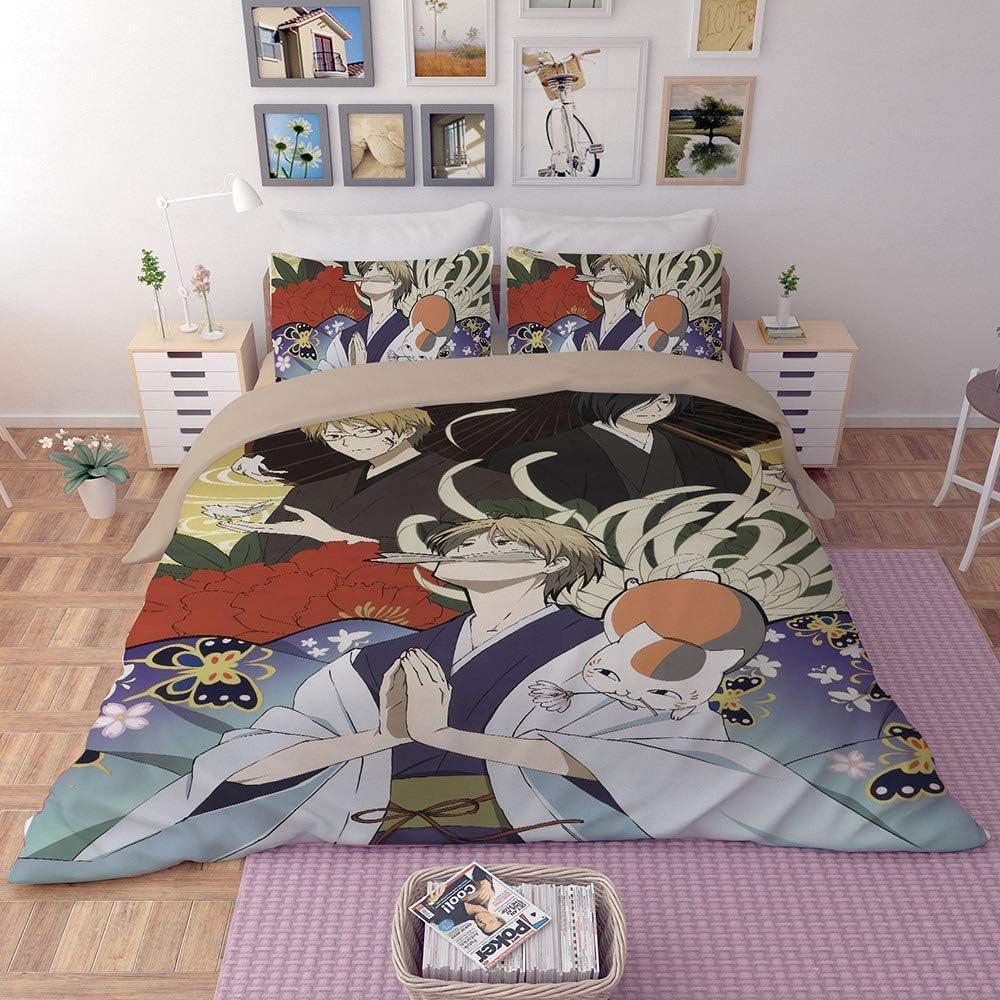 Canvas 3D Literie One Piece Japon Anime Game Réversible 3 Pièces Taie d'oreiller Housse de Couette pour Enfants Garçons Adolescents,AUDouble Twin