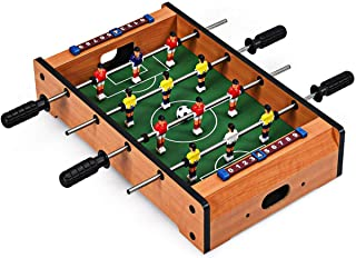 """Giantex 20"""" Foosball Table, Easily Assemble Wooden Mini Foosball Table Top w/Footballs, Soccer Table for Arcades, Game Room, Bars, Parties, Family Night"""