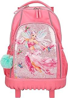 Depesche Fantasy Model Fairy Design 11184 - Mochila Escolar con Ruedas (51 x 34 x 24 cm, 28 litros y 2 kg, con Dos Ruedas y asa telescópica), Color Rosa