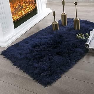 Best navy blue fur rug Reviews