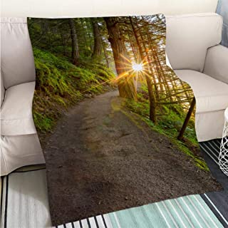 BEICICI Home Digital Printing Thicken Blanket Oregon Hiking Trail Fun Design All-Season Blanket Bed or Couch