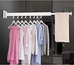 Wall Mounted Drying Racks for Laundry for Space Saver Hangers with Towel Bar Wardrobe Organizer for Balcony, Mudroom, Bedr...