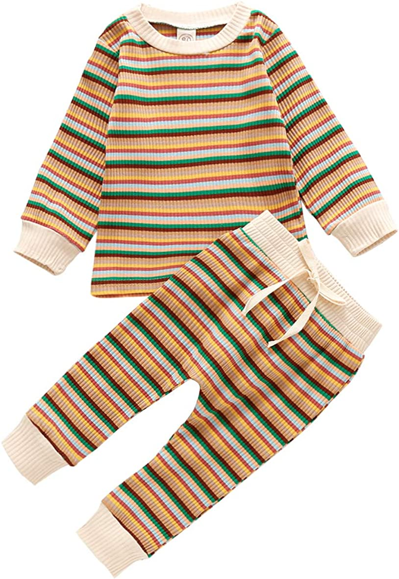 Kids Baby wholesale Boys Girls Max 82% OFF Knit Pajama 2pcs Long Sleeve Set Clothes Ch