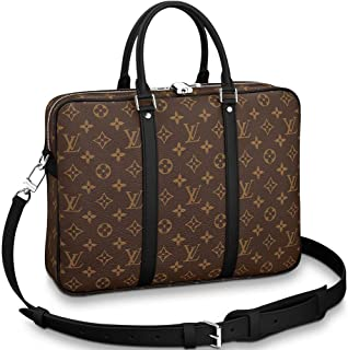 c684a1534fee Louis Vuitton Monogram Macassar Canvas Porte-Documents Voyage PM Briefcase  Laptop Bag Article  M52005