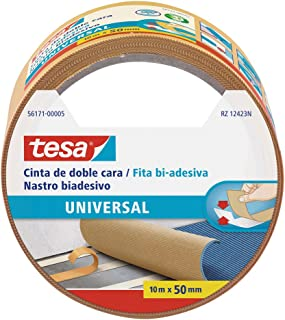 Tesa TE56171-00005-11 Cinta doble cara Universal 10m x 50mm beige, Standard