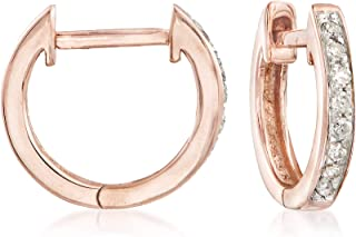0.10 ct. t.w. Diamond Huggie Hoop Earrings in 14kt Rose Gold.