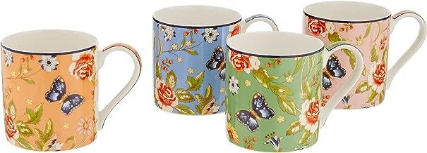 Belleek Cottage Garden Mugs (Set of 4), Multicolor