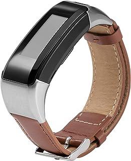 Compatible Garmin Vivosmart HR+ Bands Women Men, Stylish Replacement Leather Bands Straps Bracelet Band Wristbands Accesso...