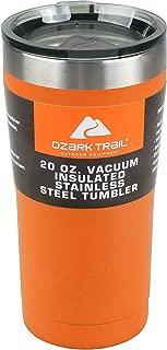 Ozark Trail 20-Ounce Double-Wall, Vacuum-Sealed Tumbler (1, Orange Blaze)
