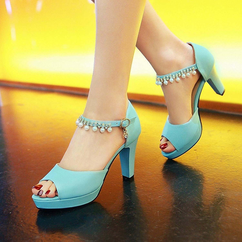 BAJIAN-LI Hohe heelsdamen heelsdamen heelsdamen Sandalen, Sommer Peep-toe Halbschuhe Damen Flip Flops Sandalen Schuhe  046123