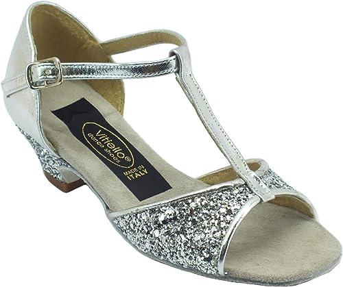 Vitiello Dance chaussures  Sandalo Bambina L.a. Cristal argent, Chaussons de danse pour fille