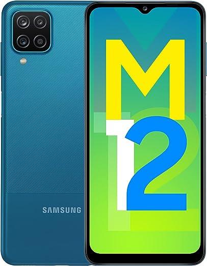 Samsung Galaxy M12 (Blue,4GB RAM, 64GB Storage) 6000 mAh with 8nm Processor | True 48 MP Quad Camera | 90Hz...