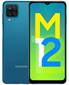 Samsung Galaxy M12 (Blue,4GB RAM, 64GB Storage) 6000 mAh with 8nm Processor   True 48 MP Quad Camera   90Hz Refresh Rate