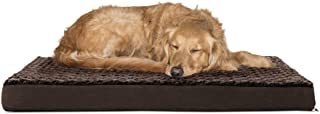 FurHaven Pet Dog Bed   Deluxe Orthopedic Ultra Plush Mattress Pet Bed for Dogs & Cats, Chocolate, Large