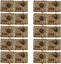 BESPORTBLE 50pcs Kraft Candy Boxes Vintage Party Favor Candy Box with Plane Tag Burlap Twine Air Mail Packaging Box for We...
