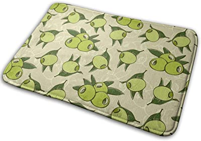 Green Olives and Leafs Carpet Non-Slip Welcome Front Doormat Entryway Carpet Washable Outdoor Indoor Mat Room Rug 15.7 X 23.6 inch