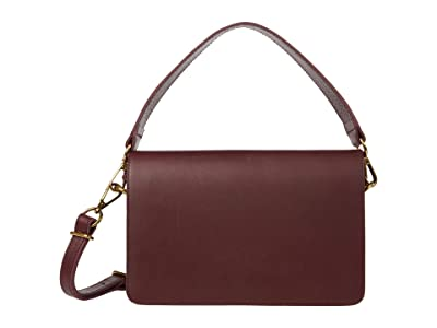 Madewell Flap Pouch Crossbody Bag with Top-Handle (Dark Cabernet) Handbags