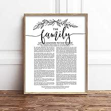 TimPrint The Family Proclamation Print LDS Family Proclamation Modern Family Proclamation LDS Print LDS Art Printable Framed Print