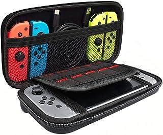 SLACTech Funda para Nintendo Switch, Guarda hasta 10 Tarjetas de Juego y Sus Accesorios,Negro